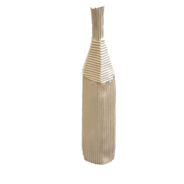 Contemporary Italian Ceramic Corrugated Medium Vase