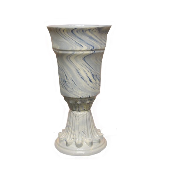 Contemporary Marbleized Tall Vase