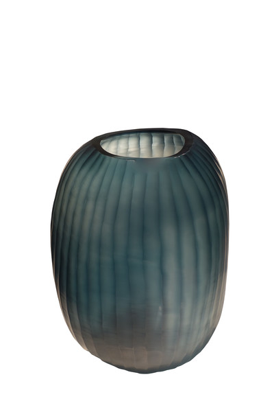 Contemporary Romania Blue Rib Vase