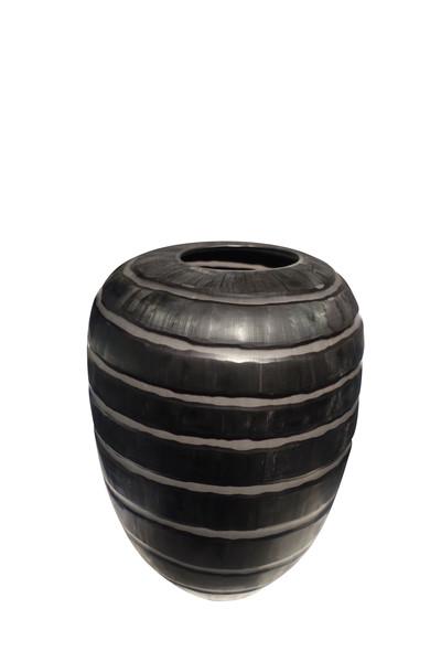 Contemporary Romanian Black Glass Vase