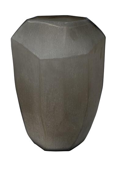Contemporary Romanian Cubist Design Glass Vase