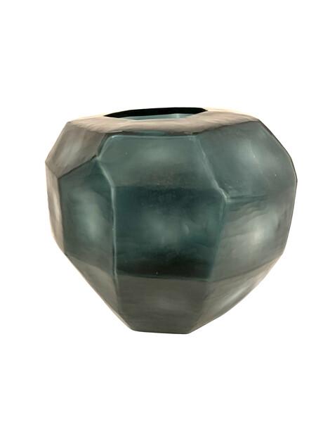 Contemporary Romanian Deep Blue Glass Vase