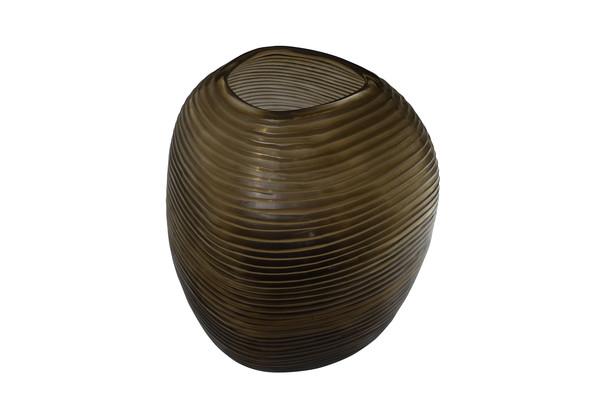 Contemporary Romanian  Edged Glass Vase