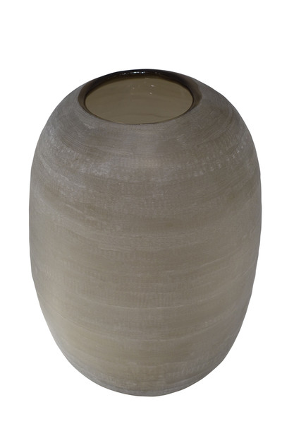 Contemporary Romanian Etched Glass Vase