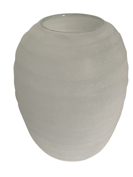 Contemporary Romanian Frosted Pale Blue Vase
