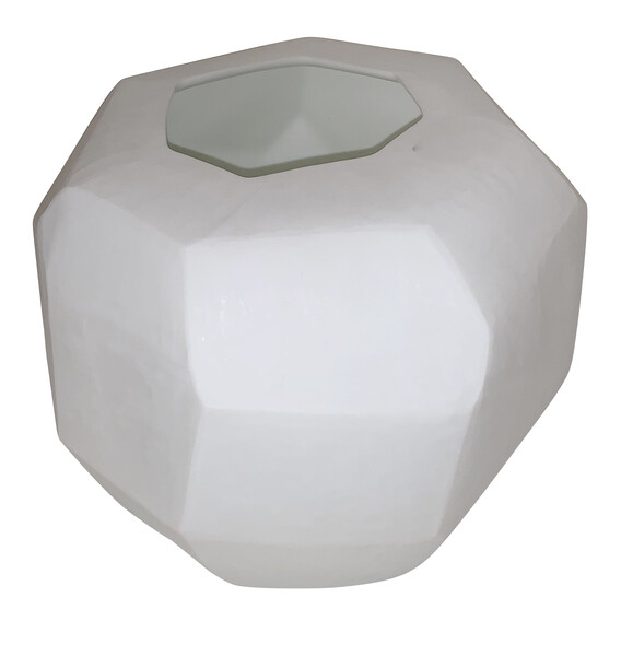 Contemporary Romanian Matte White Glass Vase