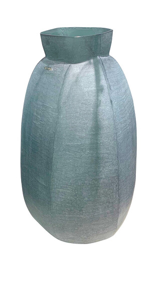 Contemporary Romanian Tall Vertical Cubist Glass Vase
