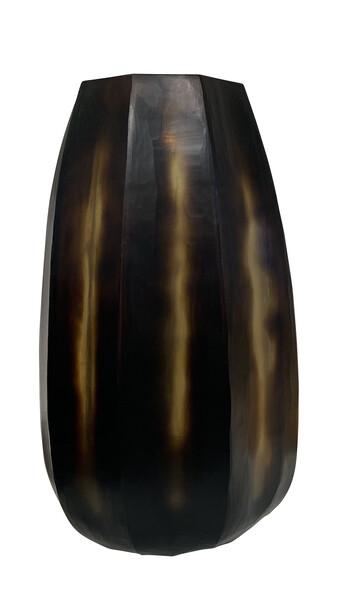 Contemporary Romanian Tortoise Design Glass Vase