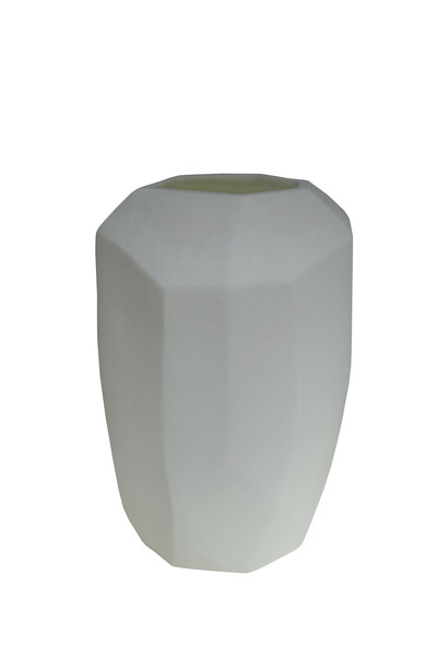 Contemporary Romanian White Cubist Vase