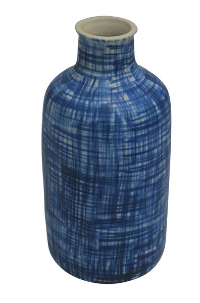 Contemporary Royal Blue Hashtag Vase
