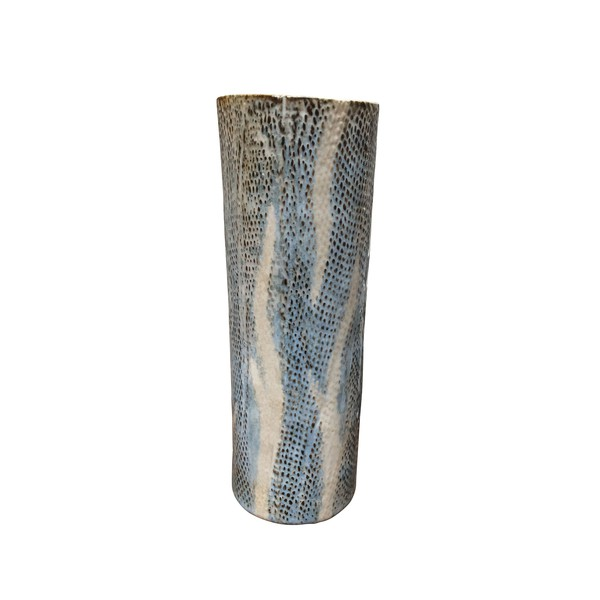 Contemporary Thailand Snakeskin Motif Vase