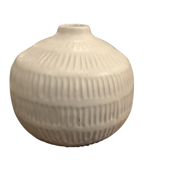 Contemporary Thailand Textured White Vase