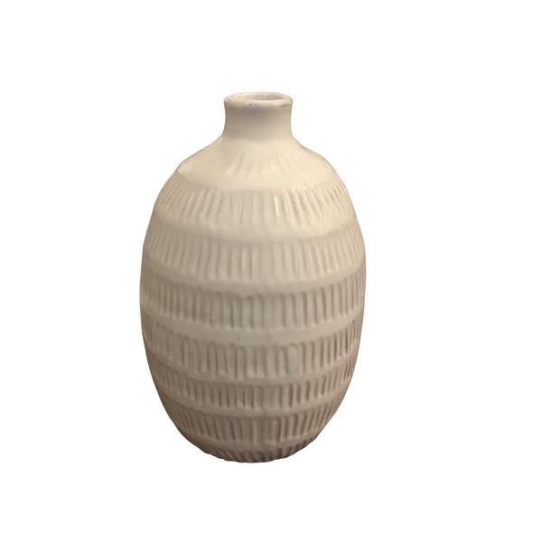 Contemporary Thailand Textured Cream Vase
