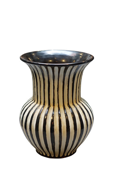 Contemporary Thailand Vertical Rib Vase