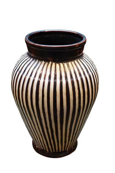 Contemporary Thailand Vertical Rib Vase
