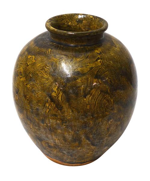1940's Chinese Jaspe Glaze Vase