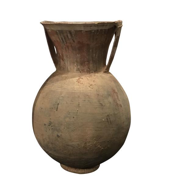 1920's Niger Handled Painted Terra Cotta Vase