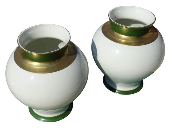 1920's French Pair Limoge Vases