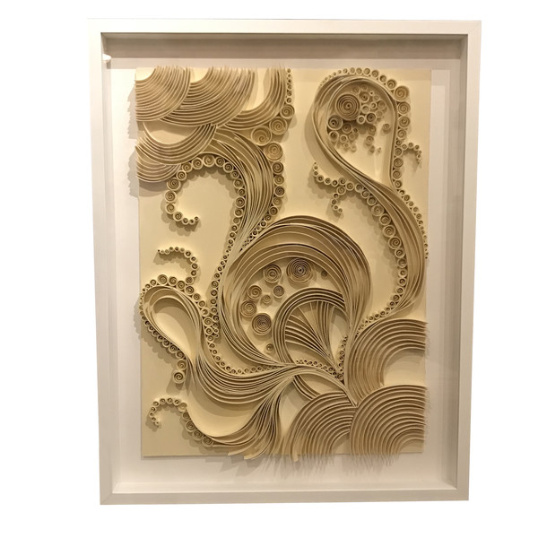 Contemporary French Folded Paper Artwork