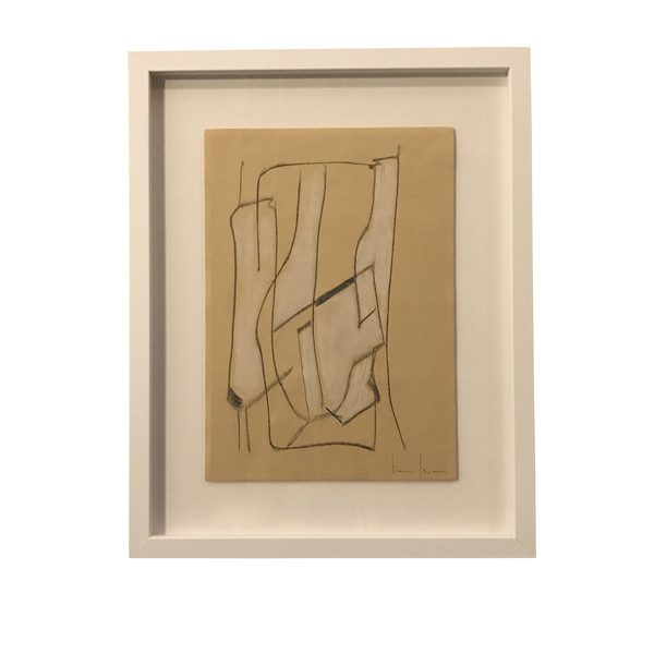 Contemporary Italian Artist Franco Ferrari Charcoal Drawing