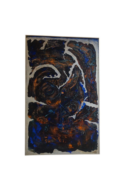 1990 French Artist Jean Pierre Neveu XXL Oil Abstract Painting