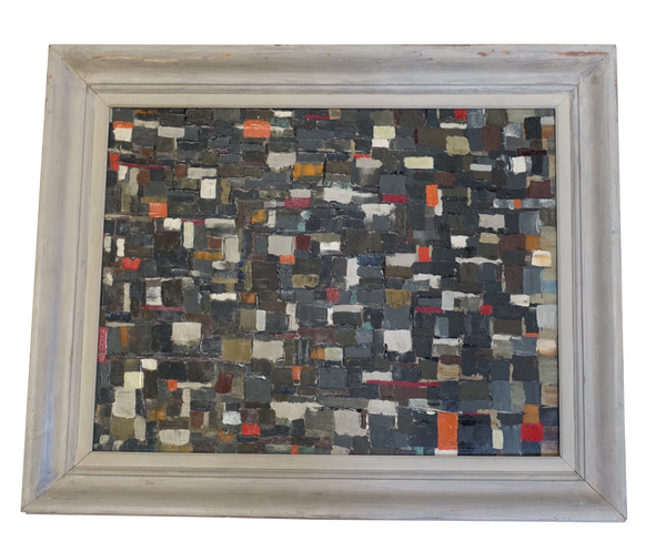 1952 French Oil Abstract