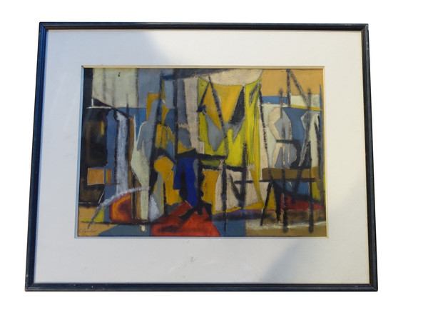 Mid Century French Abstract