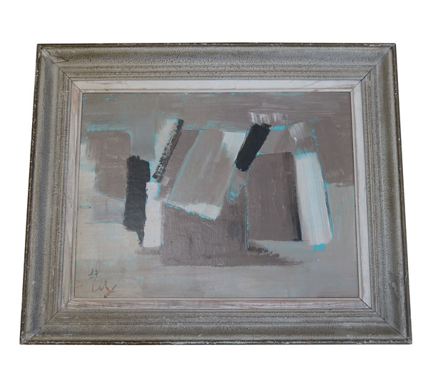 Mid Century French Oil Abstract