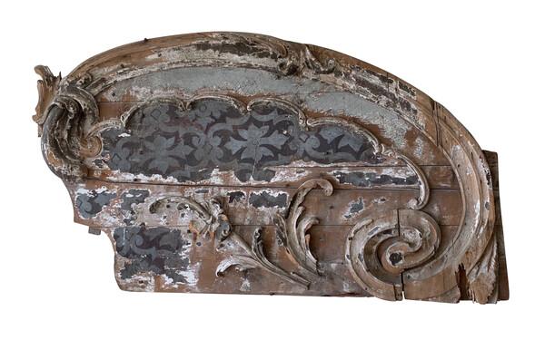 19thc Italian XXL Carved Wood Wall Sculpture