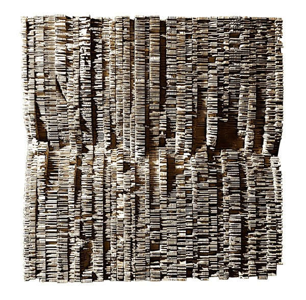 Contemporary French Artist Thierry Martenon Carved Wood Wall Sculpture
