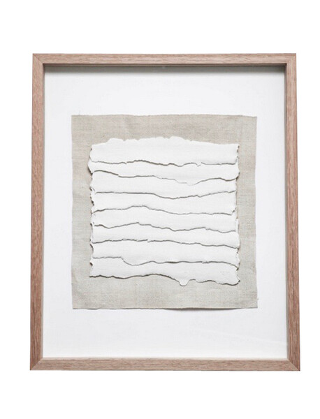 Contemporary French Framed Textured Porcelain Strips