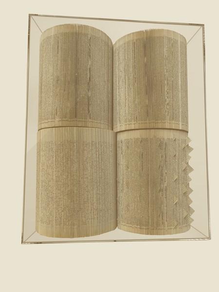 Contemporary Italian Open Books In Lucite Wall Sculpture
