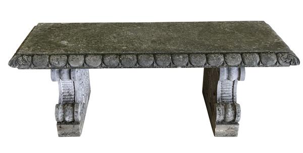 1920's Italian Vicenza Stone Bench