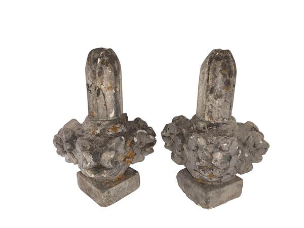 19thc French Stone Pair Garden Finials