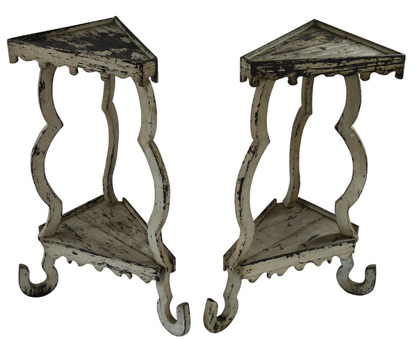 19thc Pair Italian Wood Plant Stands