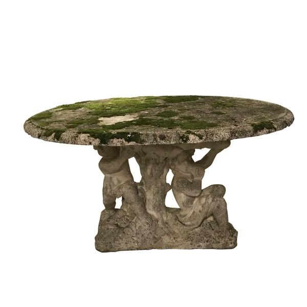 1920's Italian Oval Marble Table