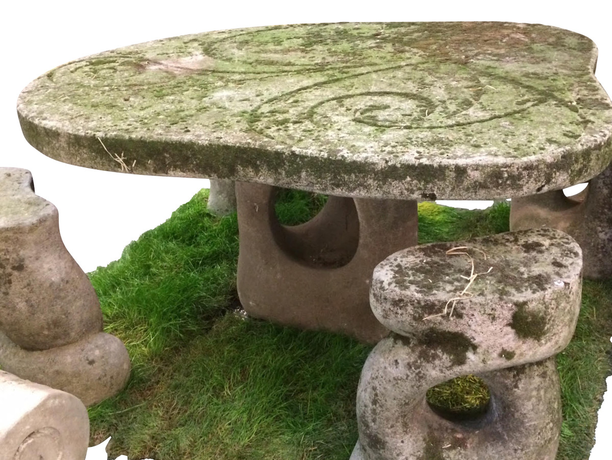 Delicieux ... Stone Garden Table And Stools. Previous