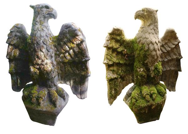 1820C English Pair Stone Eagles