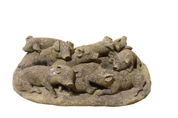 1940's English Stone Piglets