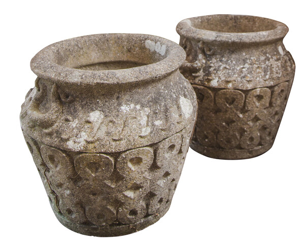 1930's English Set of Three Cotswold Planters