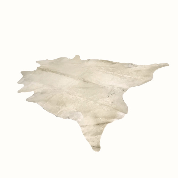 Argentinian White Cowhide Area Rug