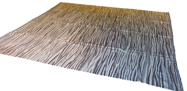 Contemporary Wavy Stripe Kilim