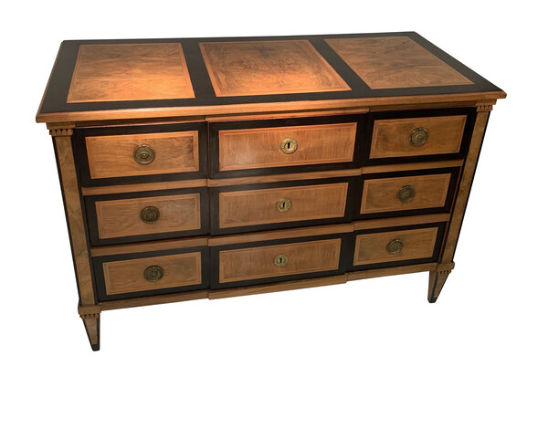 18thc French Three Drawer Commode