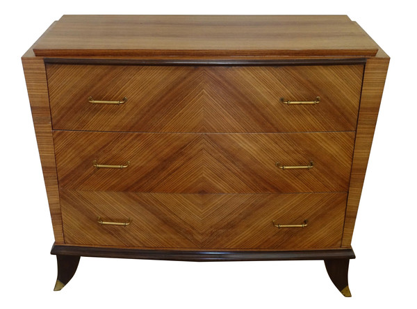 1940s' French Mitered Walnut Commode