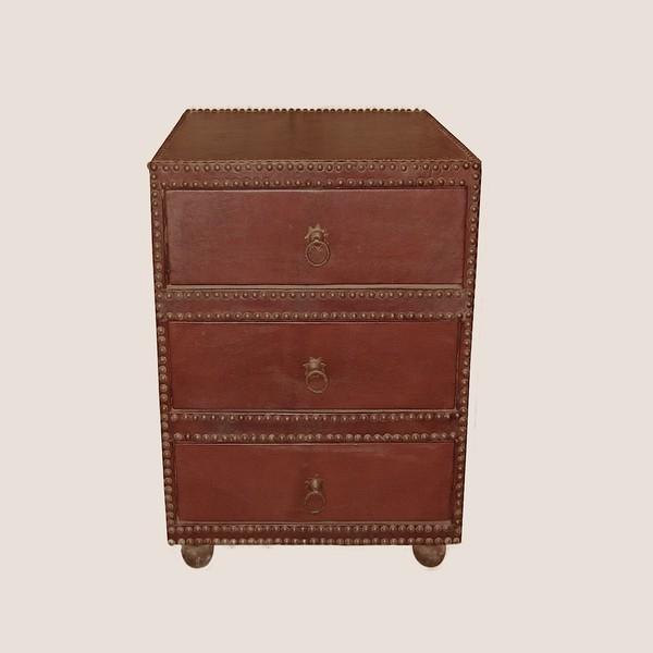 Mid-Century Spanish Leather  Bureau or Nightstand