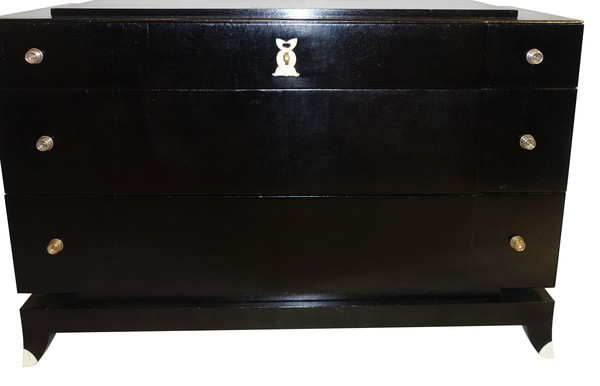 1930's French Ebonized Commode