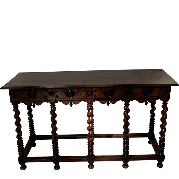 19thc Italian Four Drawer Console