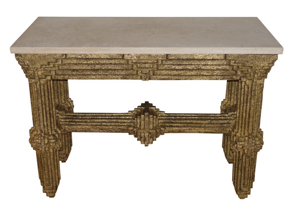 1910 French Brutalist Console