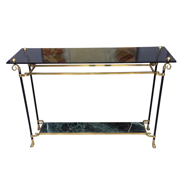 Mid Century French Maison Jansen Console Table