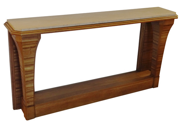 1940's French Zebrano Wood Console